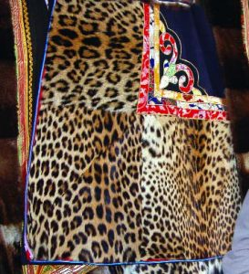 Leopard skin chubas photographed in Lhasa, July 2006. Source: TRAFFIC