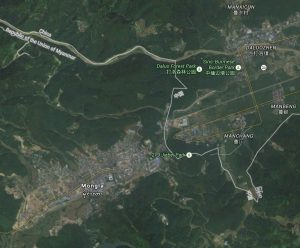 Satellite imagery of Mong La, Burma.  Source: Digital Globe/Google 2015.