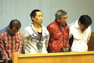 Four Chinese nationals caught with 14 rhino horn. ©Namibian.com.na