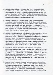 EBUR-159 - List of suspected corrupt officials and relatives in Kenya 1946-1974