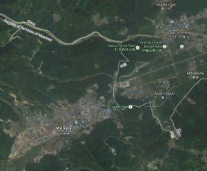 Map - MongLa Burma (Myanmar)