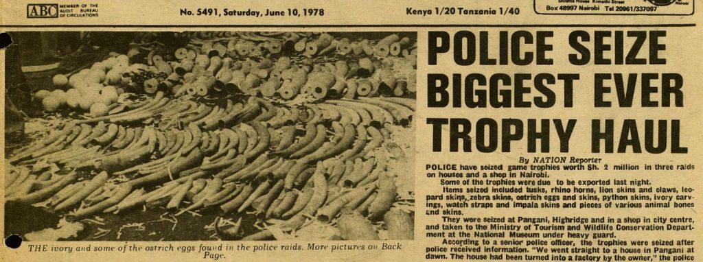Police Seize Biggest Ever Trophy Haul - Nation (Kenya) Paper Clipping