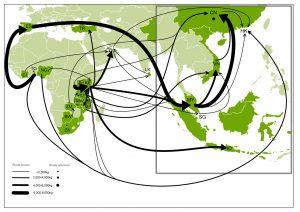 Trade routes for large-scale (>500kg) seizures of ivory (2012-2013). Source: IUCN/TRAFFIC.